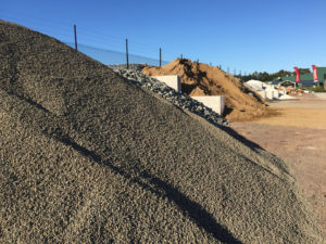 Pile of aggregate