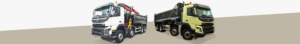 Grab and tipper lorry
